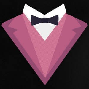 Pink Tuxedo with white bow tie Sp81h Baby Shirts  - Baby T-Shirt