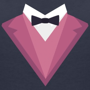 Pink Tuxedo with white bow tie Sp81h T-Shirts - Women's V-Neck T-Shirt