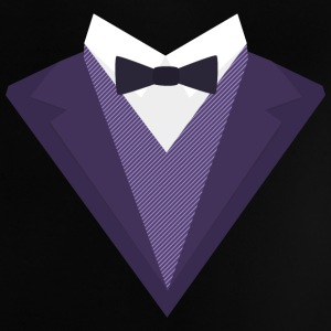Purple Tuxedo with white bow tie S67ze Baby Shirts  - Baby T-Shirt