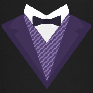 Purple Tuxedo with white bow tie S67ze Baby Long Sleeve Shirts - Baby Long Sleeve T-Shirt