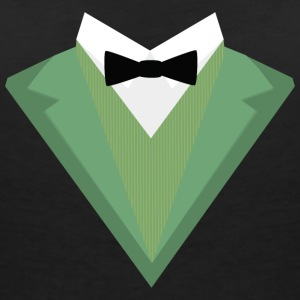 Green Tuxedo suit with a bow tie S3qgb T-Shirts - Women's V-Neck T-Shirt