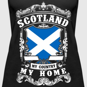 Scotland - My country - My home Topper - Premium singlet for kvinner