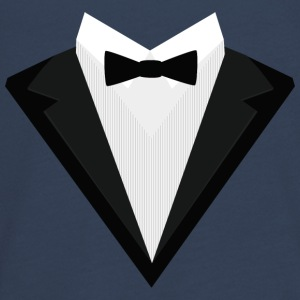 Black Tuxedo with white bow tie S946n Long Sleeve Shirts - Teenagers' Premium Longsleeve Shirt