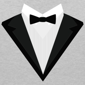 Black Tuxedo with white bow tie S946n T-Shirts - Women's V-Neck T-Shirt