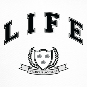 Life University - Shit Happens - Athletics Logo Caps & Hats - Trucker Cap