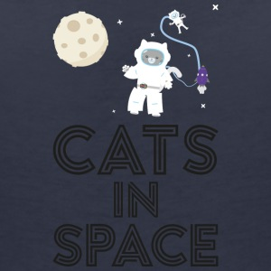 Cats in outer space S268b T-Shirts - Women's V-Neck T-Shirt