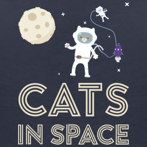 Cats in outer space Stfb7 T-Shirts - Women's V-Neck T-Shirt