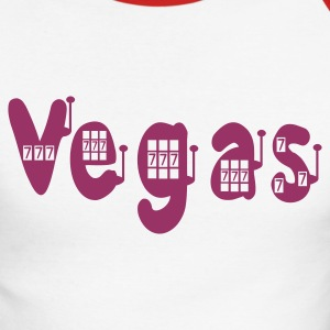 Blanc/rouge vegas seven slot T-shirts manches longues - T-shirt baseball manches longues Homme