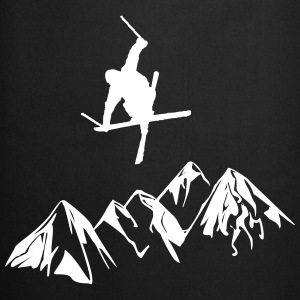 Mountain aprons with skiers - Cooking Apron