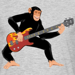 Monkey with bass guitar T-Shirts - Men's T-Shirt