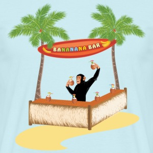 Monkey at the beach bar T-Shirts - Men's T-Shirt