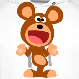 Shrugging Cartoon Bear Men's Hooded Sweatshirt - Men's Premium Hoodie