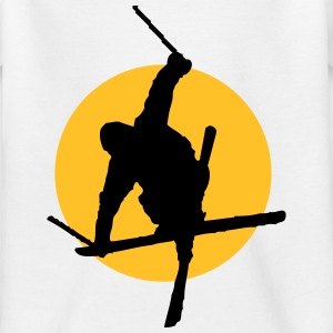 Ski freestyle pictogram T-Shirts - Kinderen T-shirt