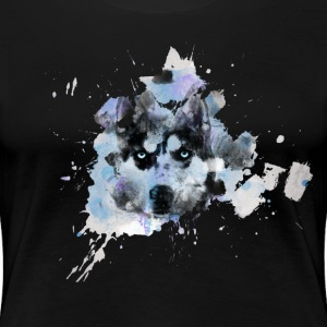Watercolor Husky Frauen Premium T-Shirt - Frauen Premium T-Shirt