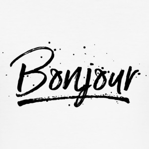 Bonjour T-Shirts - Männer Slim Fit T-Shirt