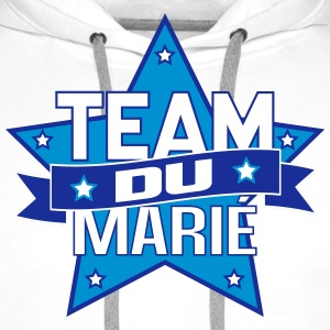 team du marié (vers.4) Sweat-shirts - Sweat-shirt à capuche Premium pour hommes
