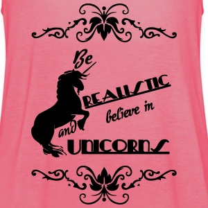 Be realistic - Believe in Unicorns Tops - Women's Tank Top by Bella