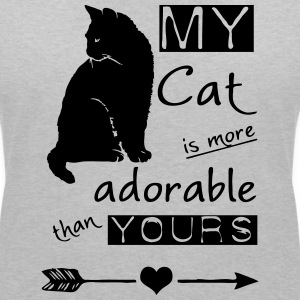 My Cat - more adorable than yours T-Shirts - Women's V-Neck T-Shirt