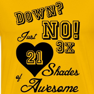 3 x 21 Shades of Awesome (Trisomie 21)  T-Shirts - Männer Premium T-Shirt