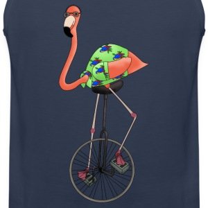 Unicycle flamingo top for men - Men's Premium Tank Top