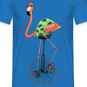 Unicycle flamingo t-shirt - Men's T-Shirt