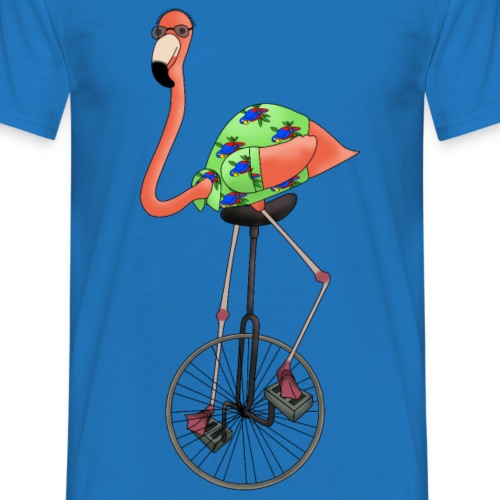 Unicycle flamingo