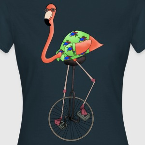Unicycle flamingo t-shirt for women - Women's T-Shirt
