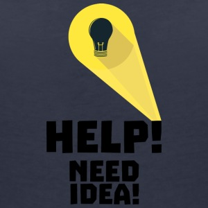 Need help idea bulb in superhero light S7wfi T-Shirts - Women's V-Neck T-Shirt