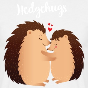 Hedgehugs | Cute Hedgehog Love Couple T-Shirts - Männer T-Shirt
