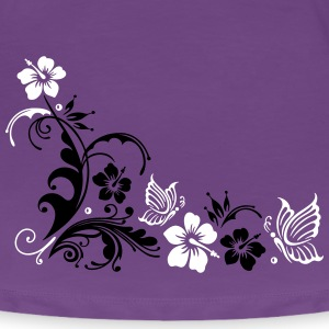 Hibiskus mit Schmetterlingen, summer time T-Shirts - Frauen Premium T-Shirt