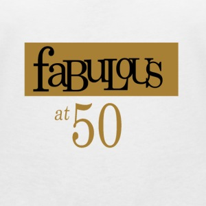 Fabulous at 50 Tee shirts - T-shirt col V Femme