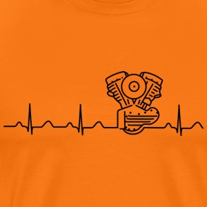 Panhead Heartbeat T-Shirt orange/schwarz - Männer Premium T-Shirt