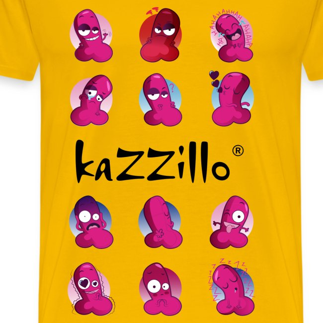 kazzillo emoticon e logo Magliette