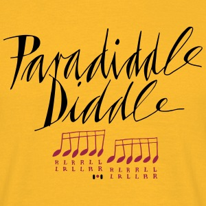 paradiddle diddle... - Männer T-Shirt