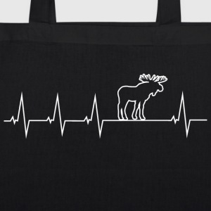 I love moose - Heartbeat Bags & Backpacks - EarthPositive Tote Bag