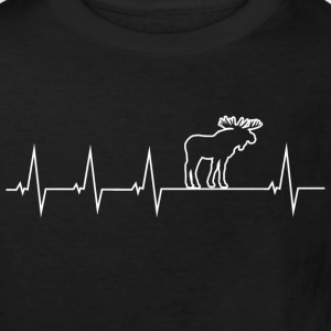 I love moose - Heartbeat Shirts - Kids' Organic T-shirt