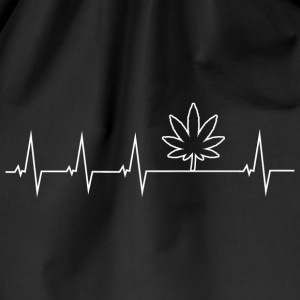 I love Cannabis - Heartbeat Bags & Backpacks - Drawstring Bag