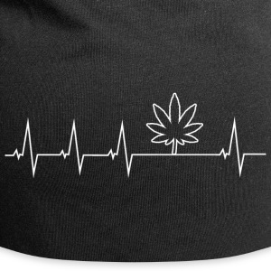 I love Cannabis - Heartbeat Caps & Hats - Jersey Beanie