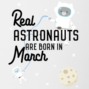 Astronauts were born in March. Sj5ze design Mugs & Drinkware - Contrasting Mug