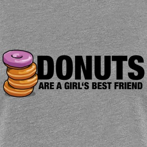 Donuts are a girl's best friend - Frauen Premium T-Shirt