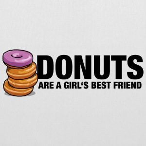 Donuts are a girl's best friend - Stoffbeutel
