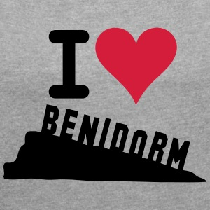 I LOVE BENIDORM T-Shirts - Women's T-shirt with rolled up sleeves