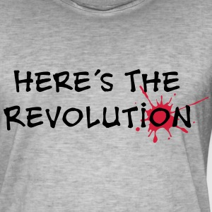 Here's the Revolution, Bloodstain, Politics T-shirts - Mannen Vintage T-shirt