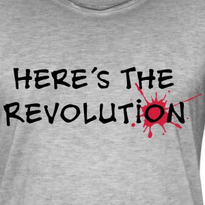 Here's the Revolution, Bloodstain, Politics T-Shirts - Männer Vintage T-Shirt