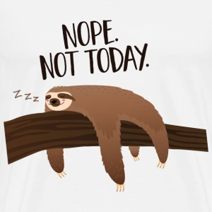 Sleeping Sloth | Nope. Not Today. Tee shirts - T-shirt Premium Homme