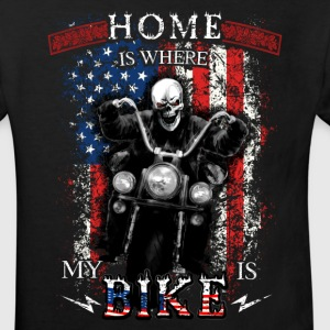 American Biker Skull - HOME is where my BIKE is T-Shirts - Kinder Bio-T-Shirt