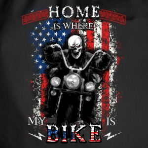 American Biker Skull - HOME is where my BIKE is Taschen & Rucksäcke - Turnbeutel