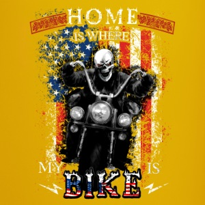American Biker Skull - HOME is where my BIKE is Tassen & Zubehör - Tasse einfarbig