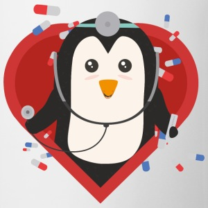 Penguin doctor with heart Sal28-design Mugs & Drinkware - Mug