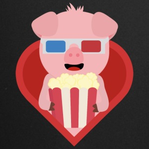 Cinema pig with popcorn in the heart of Sxitv design Mugs & Drinkware - Full Colour Mug